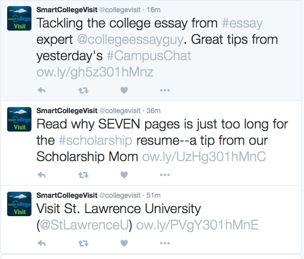 Twitter Accounts for College-Bound Students to Follow